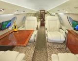 Falcon 20 Jet Aircraft cabin, cockpit, seats, exterior